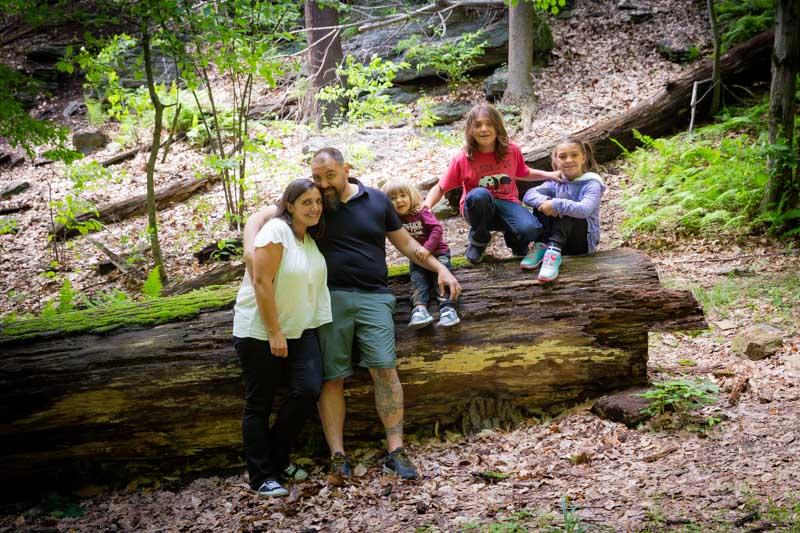 Family photo at lorimer park
