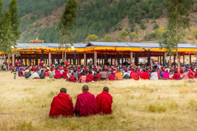 Religious ceremony at Punakha Dzong - Punakha