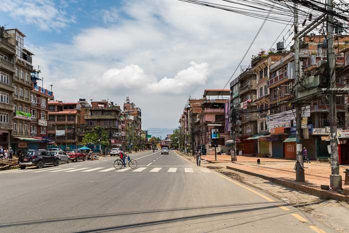 Kathmandu in lockdown...